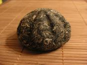 Picture of golden melon pu-erh tea.