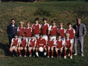 Fall 1985 Junior Red Soccer Team.