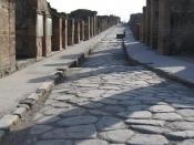 Street in Pompeii Svenska: En lugn gata i Pompeji