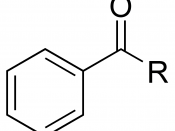 Chemical structure of a benzoyl group