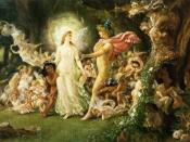 Study for The Quarrel of Oberon and Titania by Noel Paton: fairies in Shakespeare