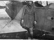 Hester with airplane, 1917
