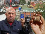 Chavez: Will the New Bolivarian Constitution Survive His Health Constitution?
