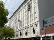 English: Lonsdale Street facade of the Myer store in Melbourne's CBD