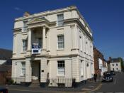 English: To let This Leamington office block is to let - another sign of the economic recession?