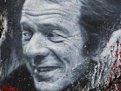 Gilles Deleuze, painted portrait _DDC3362