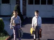 Tommy and John Joyce on their first day of school