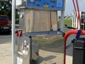 English: Compressed Natural Gas (CNG) dispenser at a fuel station near Pentagon City, Arlington, Virginia