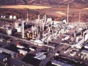 The McMahon natural gas processing plant in Taylor, British Columbia, Canada. on