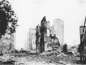 Ruins of Guernica (1937). The Spanish civil war claimed the lives of over half-a-million people.