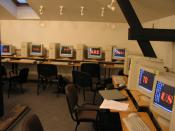 English: Computers in an IB Diploma Programme class in Riga, Latvia, showing