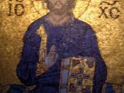 Hagia Sophia ; Empress Zoë mosaic : Christ Pantocrator; Istanbul, Turkey