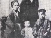 Ohsawa as a child (1901,7 years old) with his family
