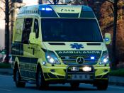 English: Danish Ambulance from Region Sjælland in the new design introduced in late 2009