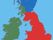 English: A map showing the approximate areas where the Gaelic (green), Brythonic (red) and Pictish (blue) languages were spoken during the 5th century CE; the period between the Roman withdrawal and the founding of Anglo-Saxon kingdoms.