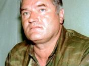 Ratko Mladić, who is in the custody of the International Criminal Tribunal for the former Yugoslavia