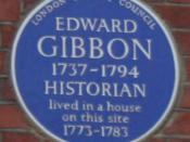 English: Blue plaque to Edward Gibbon on Bentinck Street, London