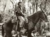 English: Che Guevara on a mule in Las Villas, Cuba