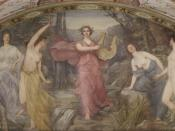 English: Henry O. Walker, Lyric Poetry (1896). Mural, South Corridor, Great Hall, Library of Congress Thomas Jefferson Building, Washington, D.C. Mural is signed