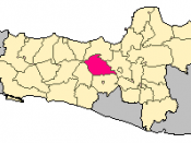 English: Location of Temanggung County in Central Java Province, Indonesia