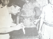 President Sukarno voting in the 1955 Indonesian legislative election