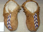 English: Quapaw men's beaded moccasins, Oklahoma, ca. 1900, collection of Oklahoma History Center, OKC