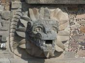 English: One of the feathered serpent heads that decorated the Temple of the Feathered Serpent in Teotihuacan.