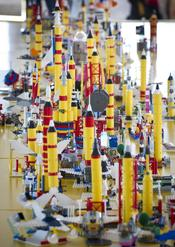 English: Students used LEGOs to 'Build the Future' at NASA's Kennedy Space Center in Cape Canaveral, Fla. on Wednesday, Nov. 3, 2010. The 'Build the Future' event was part of pre-launch activities for the STS-133 mission.