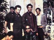 Original six members of the Black Panther Party (November, 1966) Top left to right: Elbert