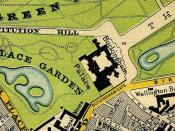 1897 Map Buckingham Palace