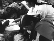 Literacy class in the El Alto section of La Paz