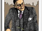 Drawing of T. S. Eliot by Simon Fieldhouse. Deutsch: T. S. Eliot, gezeichnet von Simon Fieldhouse.
