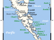 Queen Charlotte Islands Map; Gwaii Haanas is at the southern end