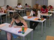 Students taking a test at the University of Vienna at the end of the summer term 2005 (Saturday, June 25, 2005).