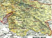 1909 Map of the Princely State of Kashmir and Jammu. Poonch district is located in the west of the state bordering Punjab and Hazara.