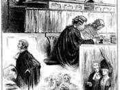 An English court room in 1886, with Lord Chief Justice Coleridge presiding