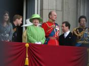 British Royal Family on Balcony for Queen's Official Birthday