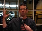 English: Dan Savage speaking at IWU as part of Gender Issues Week. Photo by soundfromwayout