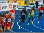 Shawn Crawford während seines 200m Semifinales
