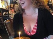 Lila happy on her birthday