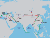 Map of Marco Polo's travels.