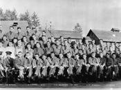 Civilian Conservation Corps officers and men