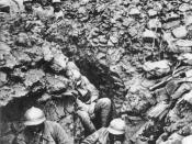Soldiers of the 87th Regiment, 6th Division at Côte 304 (Hill 304), northwest of Verdun, in 1916