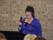 Celie Gannon author of 'Celie's Book Of Quotes' Visits Campbelltown Library