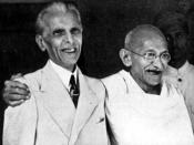 English: Gandhi and Jinnah in Bombay, September 1944.