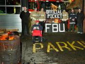 Sprowston FBU picket, Norwich on New Years Eve