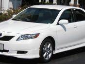 2007 Toyota Camry SE photographed in USA. Category:Toyota Camry (XV40) Category:White Toyota sedans