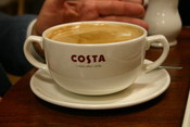 English: Cup of Costa coffee.