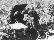 Soviet gun crew in action at Odessa in 1941.