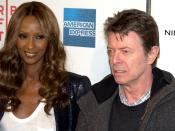 English: Iman and David Bowie at the 2009 Tribeca Film Festival premiere of Moon.